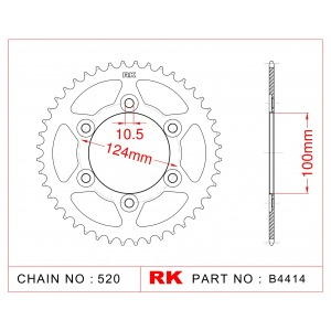 Sprocket Rear RK-B4414-48 JTR735 Afam 50602