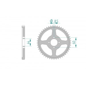 Sprocket Rear 833-41
